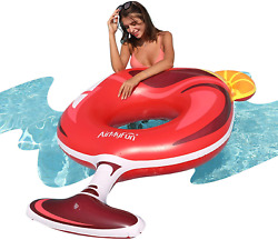 Airmyfun Inflatable Wine Glass Giant Pool Float Swim Ring Pool Float Inflatable