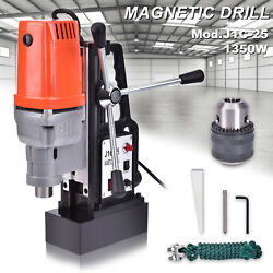 J1c-25 25mm Magnetic Base Drill Press Boring 1350w15000n Magnet Force Tapping