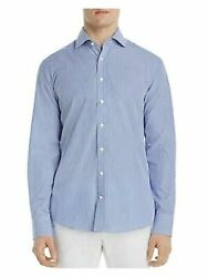Dylan Gray Mens Navy Pinstripe Classic Fit Button Down Casual Shirt Xl