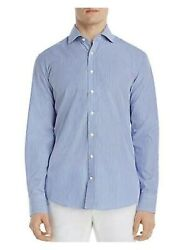 Dylan Gray Mens Navy Pinstripe Classic Fit Button Down Casual Shirt M