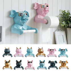 Novelty Wall Mounted Toilet Paper Holder Statue Tissue Stand Kitchen Decor