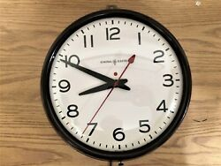 Vintage General Electric School Office Wall Clock W/ Red Dot 1950s Works Great
