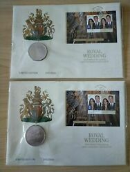 2011 Andpound5 Royal Wedding William And Kate Middleton Pnc Consecutive Pair