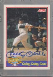 Signed Limited Edition Mickey Mantle Baseball Card Number 1103/2500