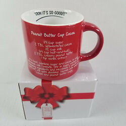 Mr. Food Test Kitchen - Peanut Butter Cup Cocoa Mug - Red And White, Recipe