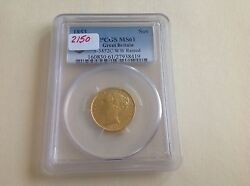 1853 Great Britain Sovereign Pcgs Ms 61