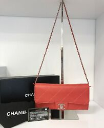 Coral Ultimate Stitch East West Wallet On Chain