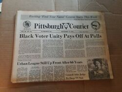 1976 November 13 PITTSBURGH New COURIER Newspaper Black Voter Unity Pays A102