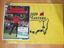 The Masters 2019 Badge 2019 Pin Flag S. I. Tiger Woods Augusta National
