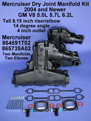Mercruiser Dry Joint Exhaust Manifold Kit 305 5.0l 350 5.7l V8 2004 And Newer