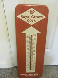 Vintage Advertising Royal Crown Cola Thermometer Soda Fountain Store A-578