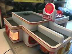 🚅 O Scale Mth/rk 30-9133 Shell Operating Gas Station- Works - Nice 💥 Y151
