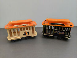 San Francisco Sf Giants Mays Mccovey Stadium Replica Cable Car Set Of Two Sga