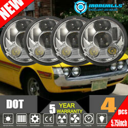 4pcs 5 3/4 5.75inch Led Headlights Sealed Beam Fit For Toyota Celica 1972-1979