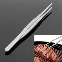 Uk-stainless Steel Bbq Tongs Barbecue Kitchen Food Serving Utensil Tongs