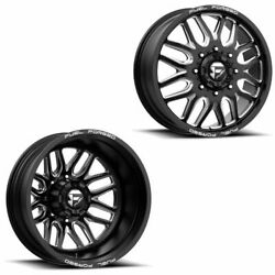 22x8.25 Ff66d Fuel Forged Matte Blk Mill Ford/dodgedually Wheels 8x200 Set Of 6
