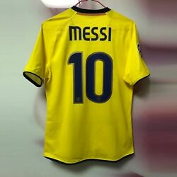Barcelona 2008-09 Away Messi Match Player Issue Shirtcl Version