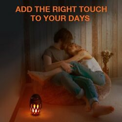 Zanflare Lamp Headboard With Bluetooth Speaker Effect Led Flame Portable