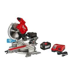 Milwaukee Sliding Compound Miter Saw 18v Cordless Battery Charger Dual Bevel