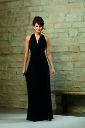 Nwt Lot Of 2 Matching Mori Lee 712 Convertible Black Jersey Gown Size 10 And 12