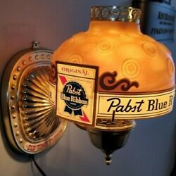 1968 Pabst Blue Ribbon Motion Moving Spinning Color Changing Lamp Light Up Sign