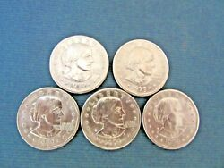 5 Coins 1979 S San Francisco Susan B. Anthony Liberty One Dollar Coin