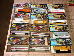 12 Pc Vintage Athearn Ho Scale Model Train Car In Box Passenger Trailer Reefer