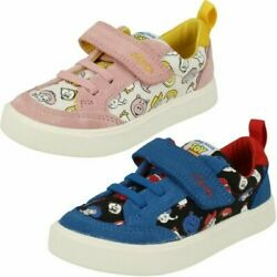 Childrens Clarks Toy Story Detailed Canvas Shoes - City Howdy T