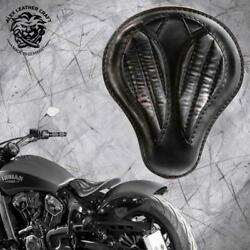 Bobber Seat Indian Scout Since`17 With Mounting Kit And Springs Vintage Black V2