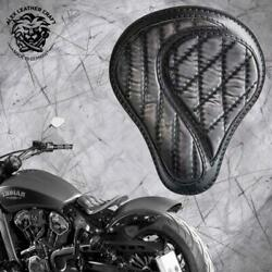 Bobber Seat Indian Scout Since`17 With Mounting Kit And Springs No-comp Vin Black