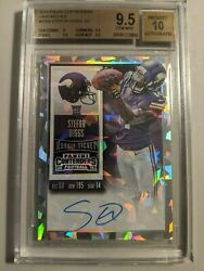 2015 Panini Contenders Cracked Ice 235a Stefon Diggs Auto 18/23 Bgs 9.5