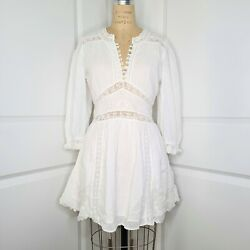 Loveshackfancy Leno Embroidered Dress White Size 6 New With Tags 395 Retail