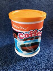 Fisher Price Vtg Toy Fun Food Coffee Can 2121 1990 Maker Accessory Lid Nice Htf