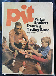 Vintage 1973 Parker Brothers Pit Trading Card Game No.661 Complete W/ Manual