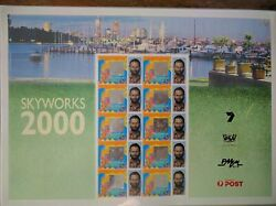 Australia Post - Skyworks 2000 Personalised Stamp Sheet And Proof