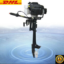4hp 4-stroke Outboard Motor Heavy Duty Fishing Boat Engine Air Cooling System Us