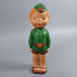 Boy - Russian Soldier. Vintage, Rubber Squeaker Toy From The 50s. Soviet Union