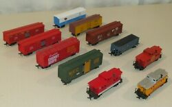 Lot Of 11 Life-like Ho Scale Freight Cars And Caboose Campbells Santa Fe Swift