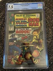 Tales Of Suspense 94 1967 Cgc 7.5 1st Modok Marvel Ow/w Pages Hulu