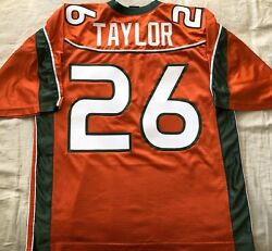 Sean Taylor Miami Hurricanes 2001-03 Authentic Nike Orange Jersey Big East Patch
