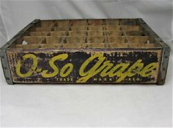 Early Vintage O-so Grape Soda Pop Wood Crate Case 1940s With Price On Ends
