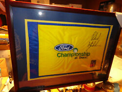 Phil Mickelson Signed '05 Ford Championship At Doral Embroidered Pin Flag Pga