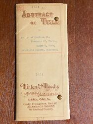 1902 Abstract Of Title To 160 Acres In Oklahoma Territory