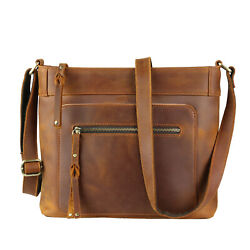 Delaney Distressed Leather Crossbody by Lady Conceal $159.95