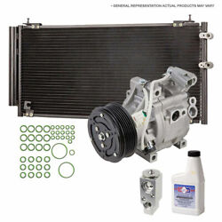 A/c Kit W/ Ac Compressor Condenser And Drier For Honda Civic 2006-2011