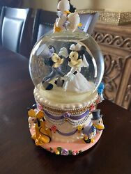 Mickey And Minnie - Wedding March Snow Globe-pluto, Daisy, Donald, Goofy And More