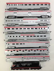 Ho Scale Southern Pacific Cs Passenger Car Set With Diesel Locomotive