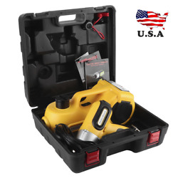 5 Ton Electric Car Hydraulic Floor Jack 17.7in Lift W/ Electric Impact Wrench