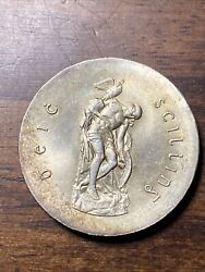 1966 Ireland Republic Silver 10 Shilling Uncirculated Eire Km18 Nice Thick Coin