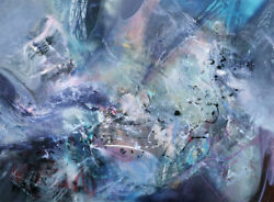 Gigantic Xxl Huge Size 200 Cm Painting Between A Whale Song And A Broken Butterf